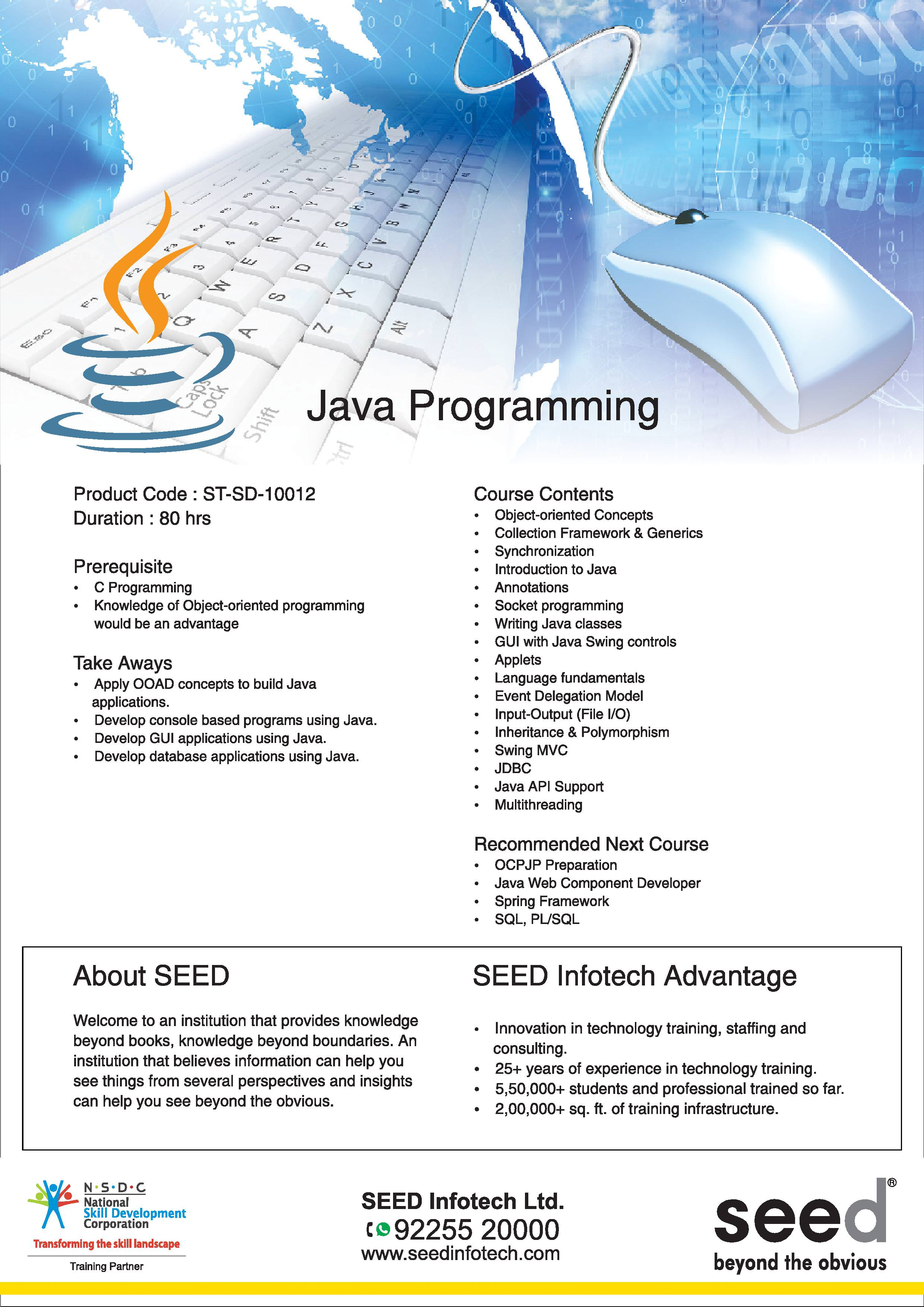 Java Technology | Java Programming Language Course by SEED